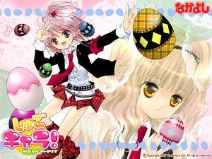 Rating: Safe Score: 51 Tags: 2girls blonde_hair boots hinamori_amu logo mashiro_rima nakayoshi peach-pit pink_hair school_uniform short_hair shugo_chara skirt tie yellow_eyes User: Oyashiro-sama