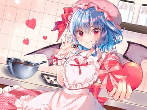 Rating: Safe Score: 61 Tags: blue_hair blush chocolate dress miyakoto red_eyes remilia_scarlet touhou valentine vampire wings User: BattlequeenYume