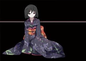 Rating: Safe Score: 20 Tags: black hammer_(sunset_beach) japanese_clothes kimono monogatari_(series) oshino_ougi owarimonogatari User: FormX