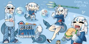 Rating: Safe Score: 21 Tags: amelia_watson blue blue_eyes bubbles chibi drink food gawr_gura gray_hair hololive hoodie limebreaker minecraft pajamas short_hair sleeping tail wink User: otaku_emmy