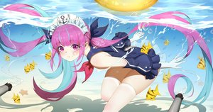 Rating: Safe Score: 81 Tags: animal fish hololive long_hair minato_aqua swimsuit thighhighs twintails underwater water wucanming User: Dreista