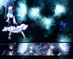Rating: Safe Score: 42 Tags: blue butterfly dress frederica_bernkastel furude_rika higurashi_no_naku_koro_ni umineko_no_naku_koro_ni User: atlantiza