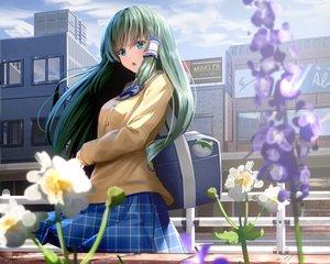 Rating: Safe Score: 24 Tags: building city cropped flowers kochiya_sanae long_hair ryosios school_uniform touhou User: mattiasc02