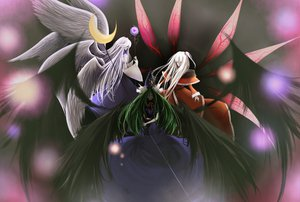 Rating: Safe Score: 65 Tags: angel dress green_hair long_hair mafei mima sariel shinki touhou white_hair wings User: FlandreScarlet
