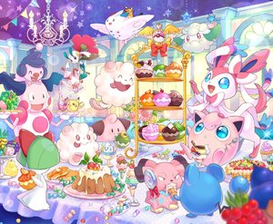 Rating: Safe Score: 64 Tags: blue_eyes cake candy chandelure cottonee dedenne drink floette food fruit ice_cream marill mime_jr mr_mime pikachu pokemon ralts shiori_(xxxsi) slurpuff swirlix sylveon togekiss vanillite User: otaku_emmy