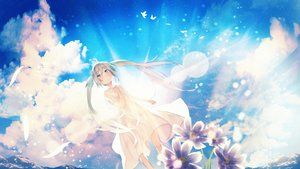 Rating: Safe Score: 12 Tags: dress feathers flowers hatsune_miku sky summer_dress tagme_(artist) vocaloid water User: BattlequeenYume