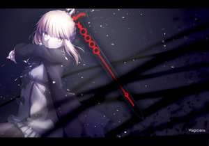 Rating: Safe Score: 137 Tags: artoria_pendragon_(all) blonde_hair fate_(series) fate/stay_night fate/unlimited_codes magicians pantyhose polychromatic saber saber_alter sword watermark weapon yellow_eyes User: FormX