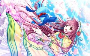Rating: Safe Score: 37 Tags: 33paradox cherry_blossoms flowers flyx2 hanato_kobato ioryogi kobato petals pink_hair User: Maboroshi