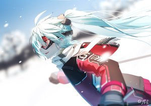 Rating: Safe Score: 41 Tags: aqua_eyes aqua_hair bai_yemeng goggles hatsune_miku scarf signed snow sport vocaloid User: FormX