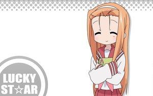 Rating: Safe Score: 1 Tags: book logo lucky_star minegishi_ayano orange_hair school_uniform white User: Oyashiro-sama