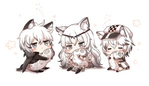 Rating: Safe Score: 59 Tags: arknights blush braids cape catboy catgirl chibi cliffheart_(arknights) gray_eyes hat honyang long_hair male pramanix_(arknights) short_hair silverash_(arknights) tail white white_hair User: BattlequeenYume