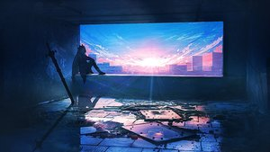 Rating: Safe Score: 60 Tags: arknights building city clouds landscape lifeline polychromatic ruins scenic skadi_(arknights) sky sunset sword weapon User: BattlequeenYume
