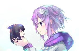 Rating: Safe Score: 108 Tags: black_hair doll hoodie hyperdimension_neptunia neptune noire purple_eyes purple_hair short_hair tagme_(artist) white User: Dummy