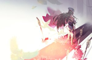 Rating: Safe Score: 61 Tags: black_hair boots cape fate/grand_order fate_(series) gun headdress kuroduki long_hair nobunaga_oda_(fate) sword weapon User: RyuZU