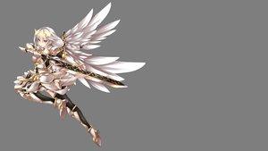 Rating: Safe Score: 93 Tags: armor braids dress elesis_(elsword) elsword fi-san long_hair sword transparent weapon white_hair wings User: Freenight