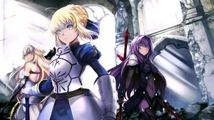 Rating: Safe Score: 74 Tags: artoria_pendragon_(all) ep_(emio_parn) fate_(series) fate/stay_night jeanne_d'arc_(fate) saber scathach_(fate/grand_order) User: luckyluna