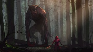 Rating: Safe Score: 203 Tags: animal big_bad_wolf blood forest hoodie kaatoso little_red_riding_hood red_riding_hood sword tree weapon wolf User: Flandre93