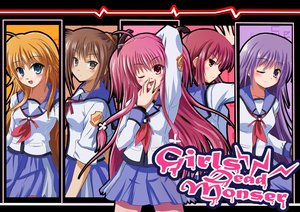 Rating: Safe Score: 56 Tags: angel_beats! hisako irie_miyuki iwasawa_masami pink_hair purple_hair rayhwang red_hair seifuku sekine_shiori yui_(angel_beats!) User: HawthorneKitty