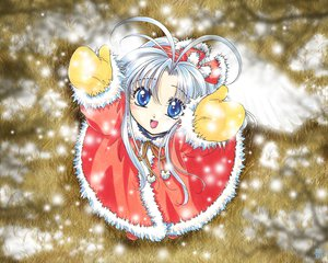 Rating: Safe Score: 8 Tags: gloves mamotte_shugogetten shaolin snow wings User: Oyashiro-sama