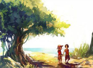 Rating: Safe Score: 68 Tags: all_male crying male monkey_d_luffy one_piece portgas_d_ace tree tsuyomaru User: FormX