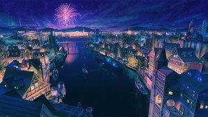 Rating: Safe Score: 60 Tags: arsenixc boat building city fireworks night nobody original reflection scenic water watermark User: RyuZU