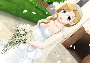 Rating: Safe Score: 59 Tags: anthropomorphism aqua_eyes azur_lane blonde_hair breasts cleavage dress flowers headdress hood_(azur_lane) long_hair necklace pazuzu438 petals tiara wedding_attire User: ssagwp