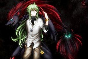 Rating: Safe Score: 48 Tags: blue_eyes green_hair long_hair n pokemon zoroark User: LastZephyr