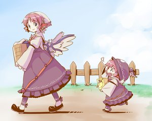 Rating: Safe Score: 49 Tags: animal_ears blue_eyes dress hat mystia_lorelei pink_hair shiba_itsuki short_hair touhou wings User: PAIIS