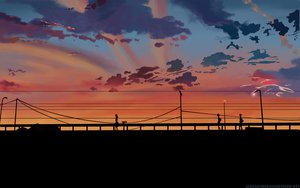 Rating: Safe Score: 45 Tags: byousoku_5_centimetre clouds scenic shinkai_makoto sky sunset User: atlantiza