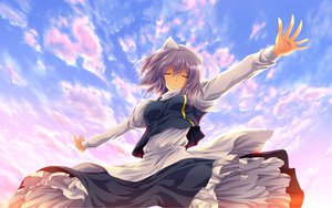 Rating: Safe Score: 91 Tags: clouds dress letty_whiterock nekominase purple_hair sky touhou User: kayceenicoleNCT0920