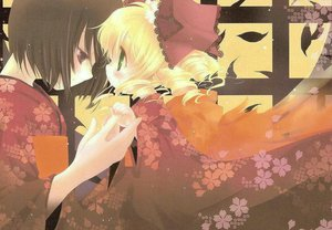 Rating: Safe Score: 16 Tags: doll hina_ichigo japanese_clothes kashiwaba_tomoe kimono rozen_maiden User: Oyashiro-sama