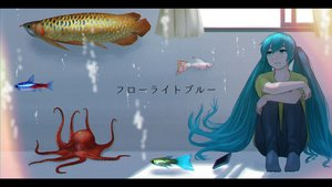 Rating: Safe Score: 53 Tags: animal aqua_eyes aqua_hair bubbles fish hatsune_miku long_hair phone twintails underwater vocaloid water yue_(yueanh) User: Flandre93