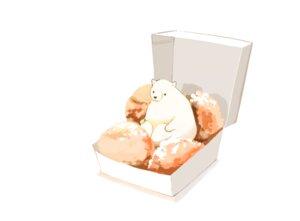 Rating: Safe Score: 20 Tags: animal bear chai_(artist) food nobody original polychromatic signed white User: otaku_emmy