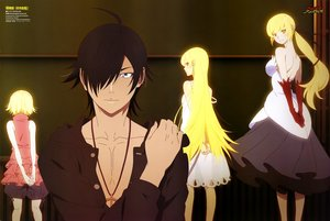 Rating: Safe Score: 67 Tags: araragi_koyomi bakemonogatari black_hair blonde_hair dress elbow_gloves gloves iwasaki_taisuke kissshot_acerolaorion_heartunderblade kizumonogatari loli long_hair male monogatari_(series) necklace oshino_shinobu ponytail scan short_hair yellow_eyes User: RyuZU