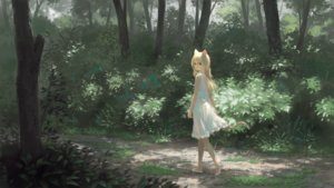 Rating: Safe Score: 111 Tags: animal_ears blonde_hair brown_eyes dress forest long_hair original tail tree wasabi60 User: BattlequeenYume