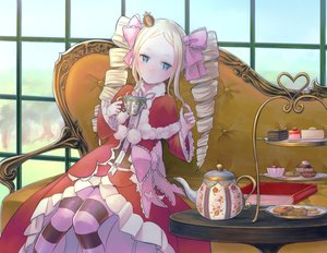 Rating: Safe Score: 36 Tags: beatrice_(re:zero) cake drink food pabo re:zero_kara_hajimeru_isekai_seikatsu User: FormX