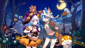 Rating: Safe Score: 62 Tags: animal animal_ears bili_bili_douga bili_girl_22 bili_girl_33 cat flot halloween User: BattlequeenYume