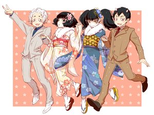 Rating: Safe Score: 17 Tags: black_eyes black_hair demon group hoozuki_no_reitetsu horns japanese_clothes karauri kimono long_hair male miki_(hoozuki) nasubi peach_maki pointed_ears short_hair socks tagme_(artist) tie twintails waifu2x white_hair yellow_eyes User: otaku_emmy