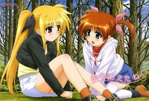 Rating: Safe Score: 45 Tags: 2girls blonde_hair brown_hair fate_testarossa mahou_shoujo_lyrical_nanoha mahou_shoujo_lyrical_nanoha_a's okuda_yasuhiro scan takamachi_nanoha User: Wiresetc