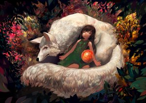 Rating: Safe Score: 87 Tags: animal fox leaves onion_(onion_and_pi-natto) original sleeping User: FormX