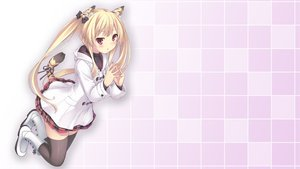 Rating: Safe Score: 333 Tags: animal_ears ryo tail thighhighs twintails User: poo-san