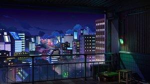 Rating: Safe Score: 40 Tags: 3d building city clouds mb0sco night nobody original scenic sky stars the_jazz_hop_cafe watermark User: RyuZU