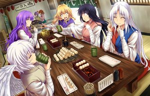 Rating: Safe Score: 52 Tags: aliasing bandage black_hair blonde_hair blush brown_hair food group hieda_no_akyuu hijikawa_arashi houraisan_kaguya japanese_clothes kishin_sagume long_hair motoori_kosuzu purple_eyes purple_hair red_eyes short_hair touhou watatsuki_no_toyohime watatsuki_no_yorihime white_hair wings yagokoro_eirin yellow_eyes User: RyuZU