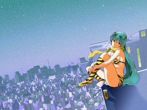 Rating: Safe Score: 33 Tags: horns long_hair lum pointed_ears scarf sky urusei_yatsura User: pantu