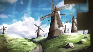 Rating: Safe Score: 77 Tags: clouds fumi11gou grass landscape nobody original scenic sky windmill User: STORM