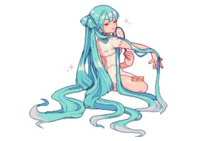 Rating: Safe Score: 41 Tags: aqua_eyes chinese_clothes chinese_dress dress fan hatsune_miku long_hair moguhugo vocaloid waifu2x watermark white User: otaku_emmy