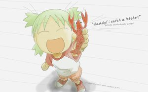 Rating: Safe Score: 20 Tags: azuma_kiyohiko food green_hair koiwai_yotsuba short_hair sketch white yotsubato! User: Kulag