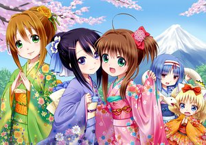 Rating: Safe Score: 112 Tags: blonde_hair cherry_blossoms flowers japanese_clothes jewelpet jinnai_alma kimono loli lolita_fashion miria_marigold_mackenzie sakura_akari sakura_monica sara_(jewelpet) tagme yuu_(derodero) User: opai