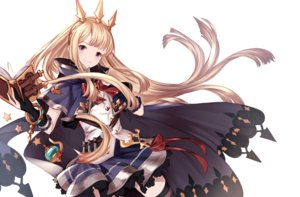 Rating: Safe Score: 23 Tags: blonde_hair book bow cagliostro_(granblue_fantasy) cape gloves granblue_fantasy headdress long_hair purple_eyes resuta skirt thighhighs white User: RyuZU