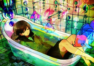 Rating: Safe Score: 76 Tags: animal barefoot bath bathtub fish noricopo_(nori0w0) original seifuku User: FormX